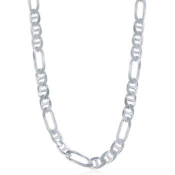 - Sterling Silver 7.3mm Figaro Marina Chain Bracelet / Necklace for Men
