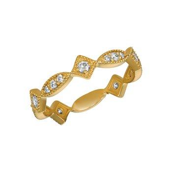 14k Gold 0.50ctw. Diamond Geometric Anniversary Wedding Band Ring