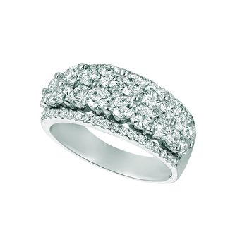 14k White Gold 2.52ctw. Diamond Anniversary Wedding Band Ring