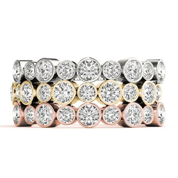 0.50ctw. Diamond Bezel-Set Anniversary Wedding Stackable Ring Band