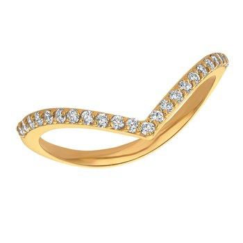 14k Gold 0.25ctw. Diamond V Guard Wrap Band Ring