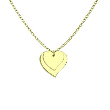 - Two Heart Customized Engravable Photo Picture Pendant