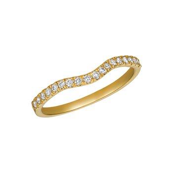 14k Gold 0.25ctw. Diamond Guard Wedding Band