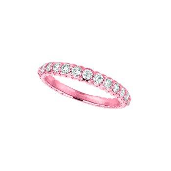 14K Gold 0.64ctw. Diamond Anniversary Wedding Band Ring