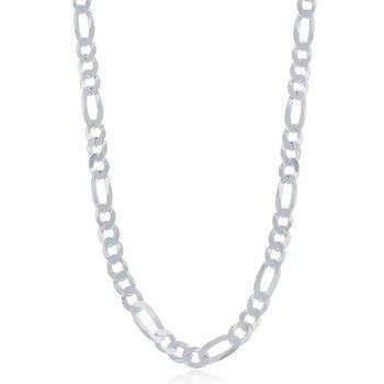 - Sterling Silver 5.8mm Figaro Bracelet / Necklace for Men