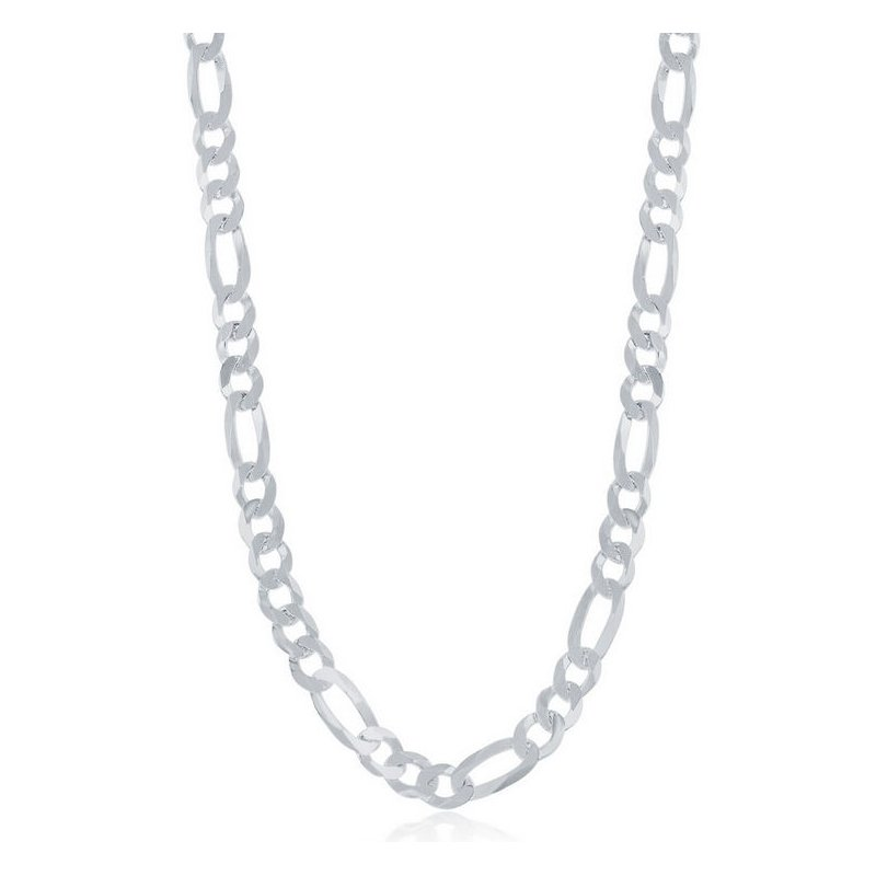Fashion Jewelry Collection  - Sterling Silver 5.8mm Figaro Bracelet / Necklace for Men