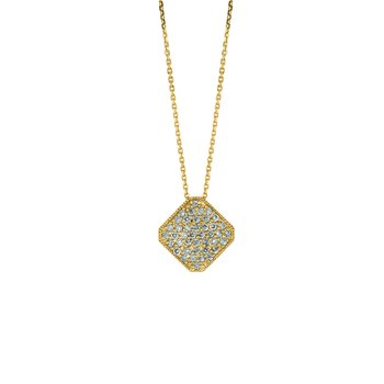 "14k Gold 0.75ctw. Diamond Square 18"" Chain Necklace"