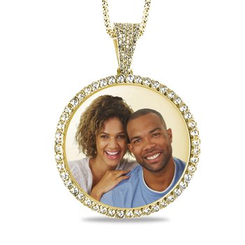 - Iced Out Diamond 36mm Customized Photo Picture Pendant
