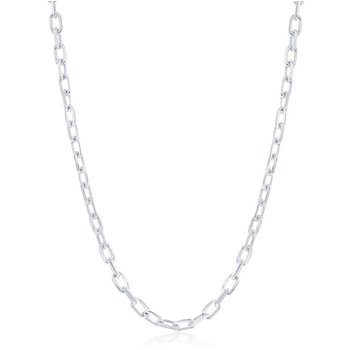 Sterling Silver 4.1mm Anchor Chain Necklace