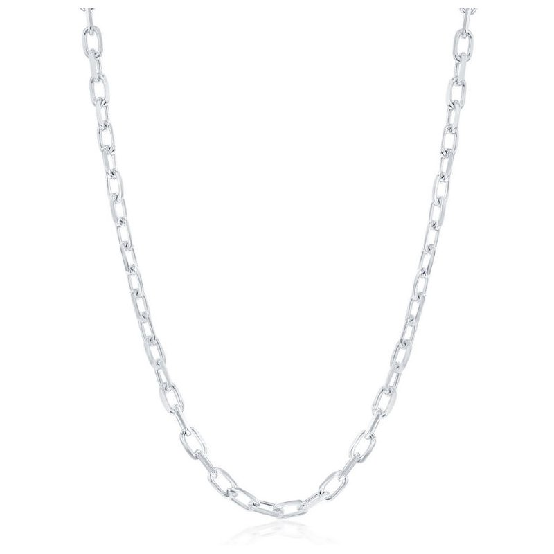 Fashion Jewelry Collection Sterling Silver 4.1mm Anchor Chain Necklace