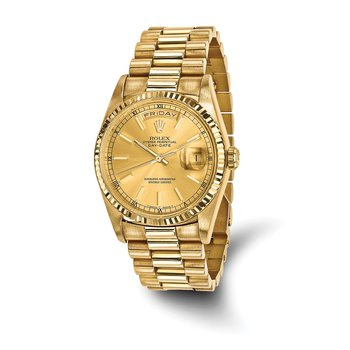: Pre-Owned Independently Certified Rolex Gents 18ky Day-Date President