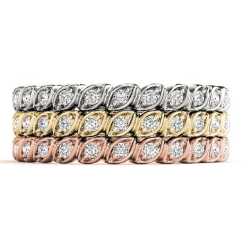 1/6ctw. Diamond Anniversary Wedding Stackable Ring Band