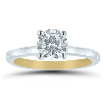 - Semi-Mount Round Solitaire INSIDE OUT Unique & Trending Engagement Ring