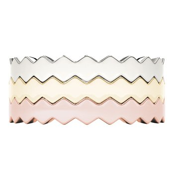 Stackable Plain Wavy Band Ring