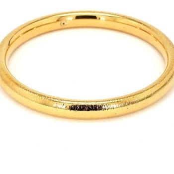14kt Yellow Gold Estate 8mm Round Bangle Bracelet