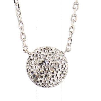 03ct Diamond Disk Necklace