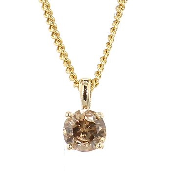 1/3ct Chocolate Diamond Pendant