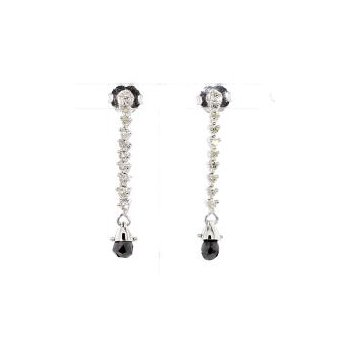 1/2ct Black Diamond Earrings