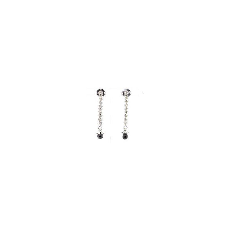 1/2ct Black Diamond Earrings