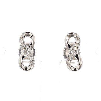 .05ct Diamond Infinity Style Earrings