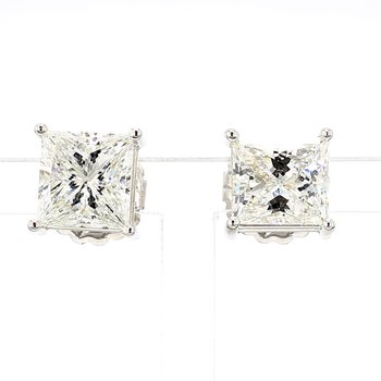 5 1/2ct Princess Cut Diamond Stud Earrings