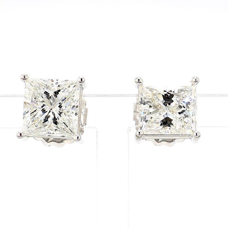 5 1/2ct Princess Cut Diamond Stud Earrings
