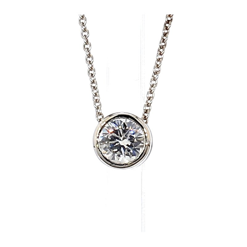 9/10ct Diamond Bezel Pendant