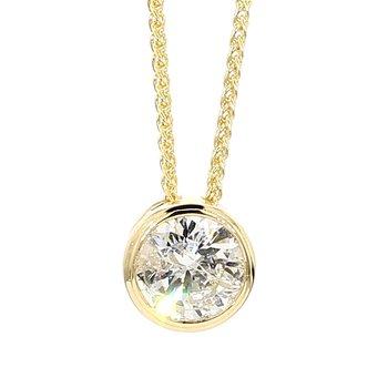 1.01 Carat Diamond Bezel Pendant