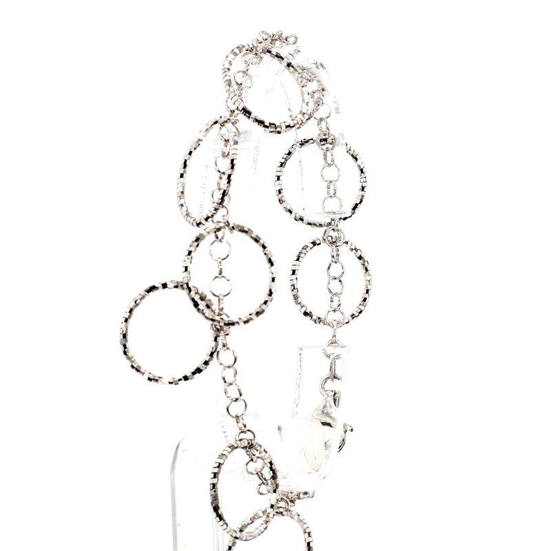 14KT White Gold Circle Style Bracelet