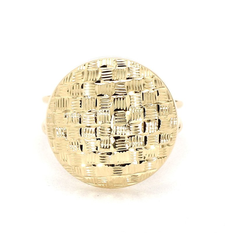 14KT  Woven  Domed Fashion Ring