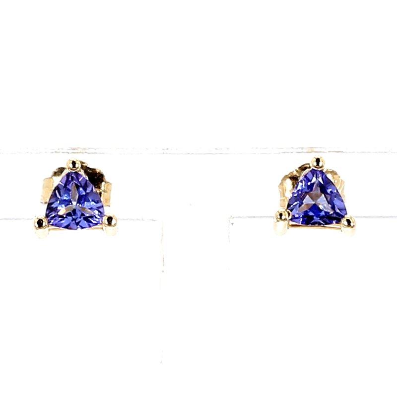 1/2ct Trilliant Cut Tanzanite Stud Earrings