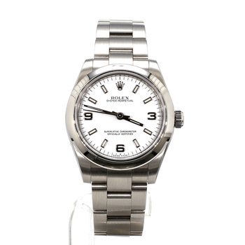 Stainless Steel White Dial Sport - Mid-Sized Case