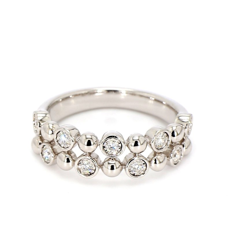 Double Row Diamond Bubble Ring
