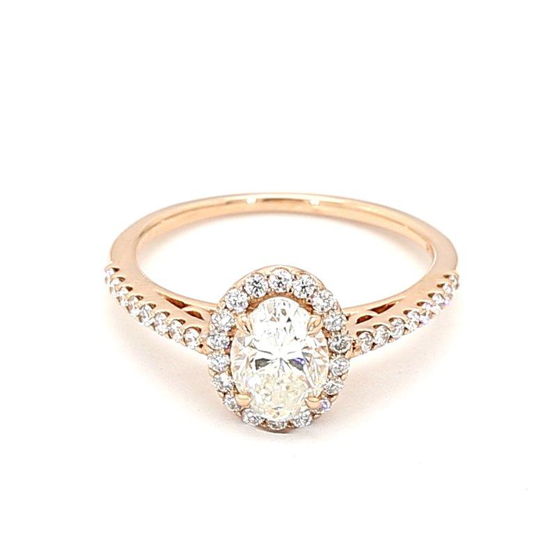 1.40 Carat Diamond Halo Engagement Ring