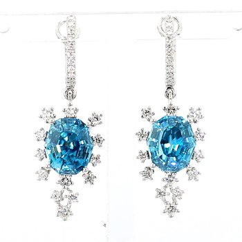 Zircon And Diamond Earrings