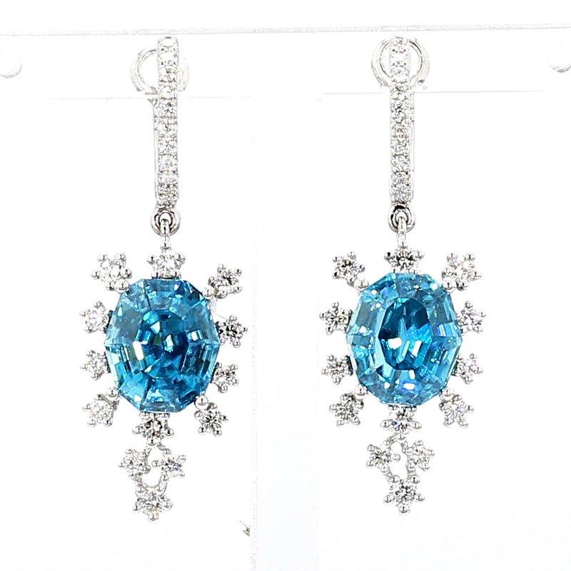 Zircon And Diamond Earrings