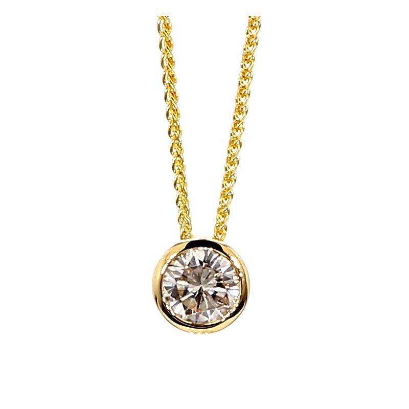2/3ct Diamond Bezel Pendant