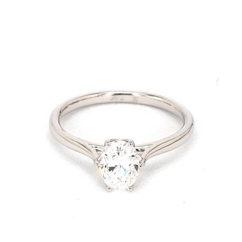 1ct Oval Diamond Engagement Ring