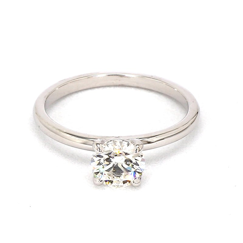1ct Round Diamond Petite Solitaire Engagement Ring