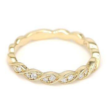.13 Carat Diamond 14 Karat Yellow Gold Eternity Ring