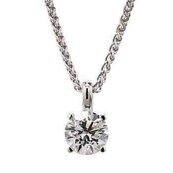 1/2ct Solitaire Diamond Pendant H I1
