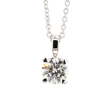 "1/2ct Laboratory Grown Diamond Solitaire Pendant 18""x 5.53mm"
