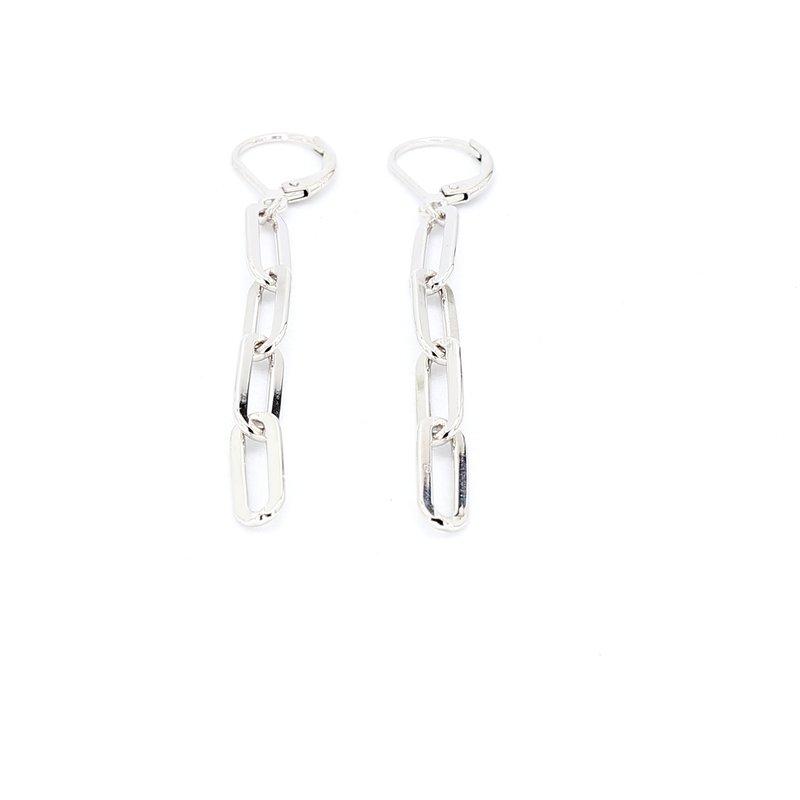 """Paper Clip Drop Earrings 2"""" x 4.7mm"""