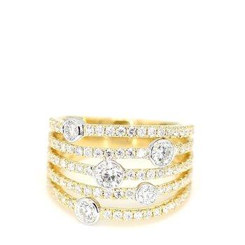 1.50 Carat Diamond 18 Karat Two Tone Gold Fashion Ring