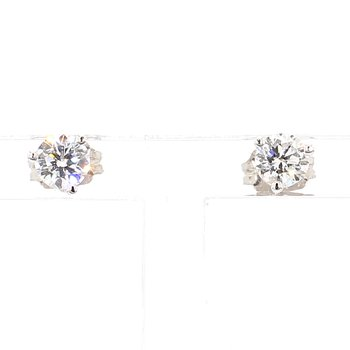1/2ct Round Brilliant Diamond Stud Earrings