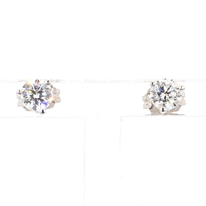 1/2ct Round Brilliant Diamond Stud Earrings