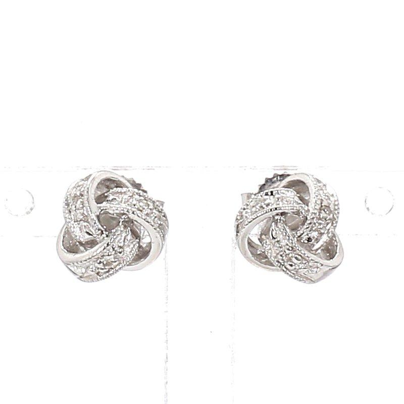 .02ct Diamond Love Knot Earrings