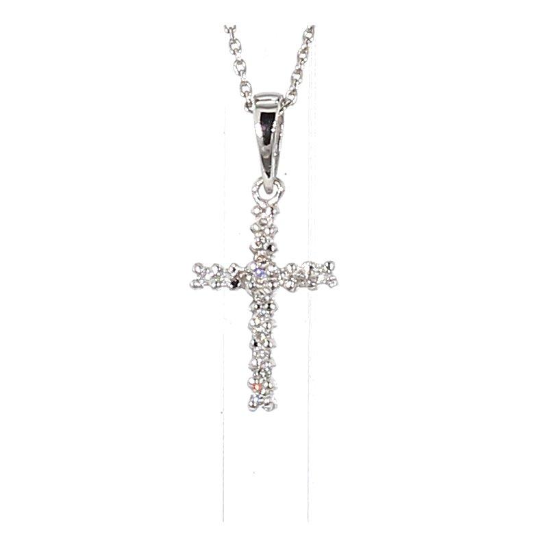 .07ct Diamond Cross Pendant 16.83mm X 7.75mm