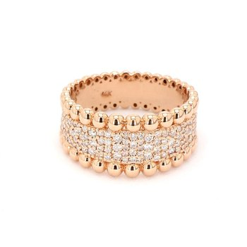 .84ct Diamond Pavé 14 Karat Rose Gold Ring