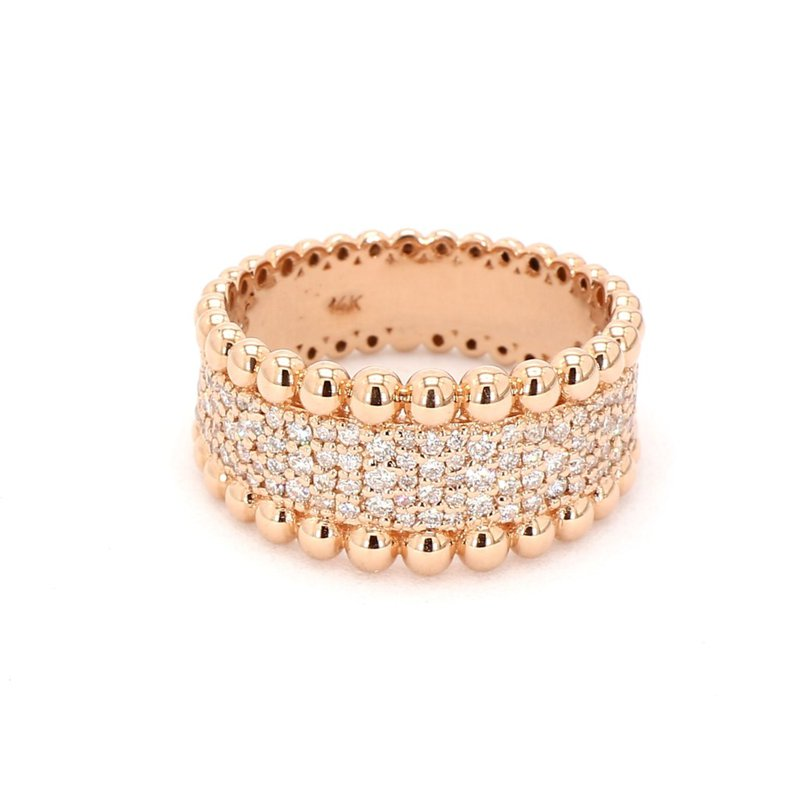 .84ct Diamond Pavé 14 Karat Rose Gold Ring